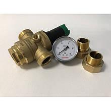 Редуктор тиску води Honeywell D06F-1В + манометр Koer 10 Bar