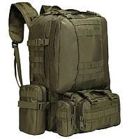 Рюкзак тактический с подсумками A08 50 л, олива