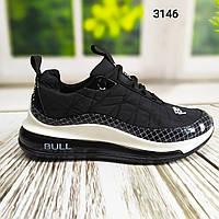 Модные мужские кроссовки  BULL, черные, новая модель 2020