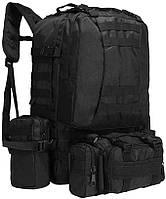 Рюкзак тактический с подсумками A08 50 л, черный, фото 1