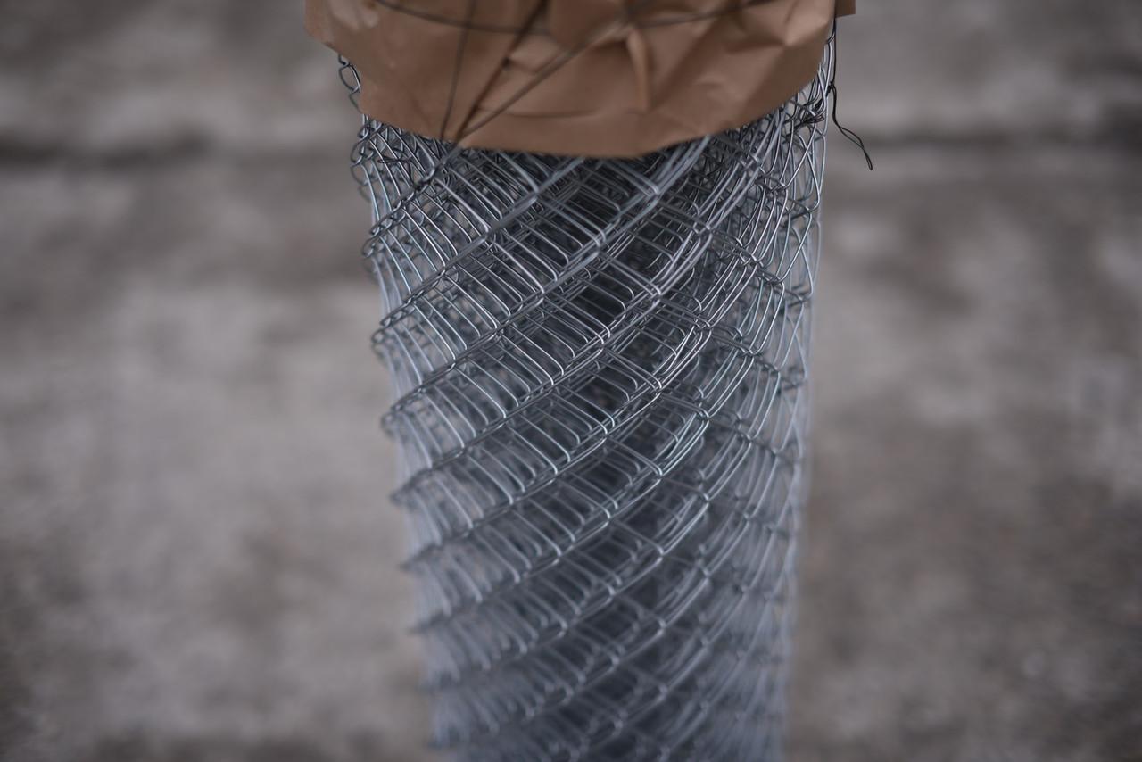 Сетка Рабица оцинкованная 60х60, Ø 2,5 мм, высота 1,20 м, рулон 10 м
