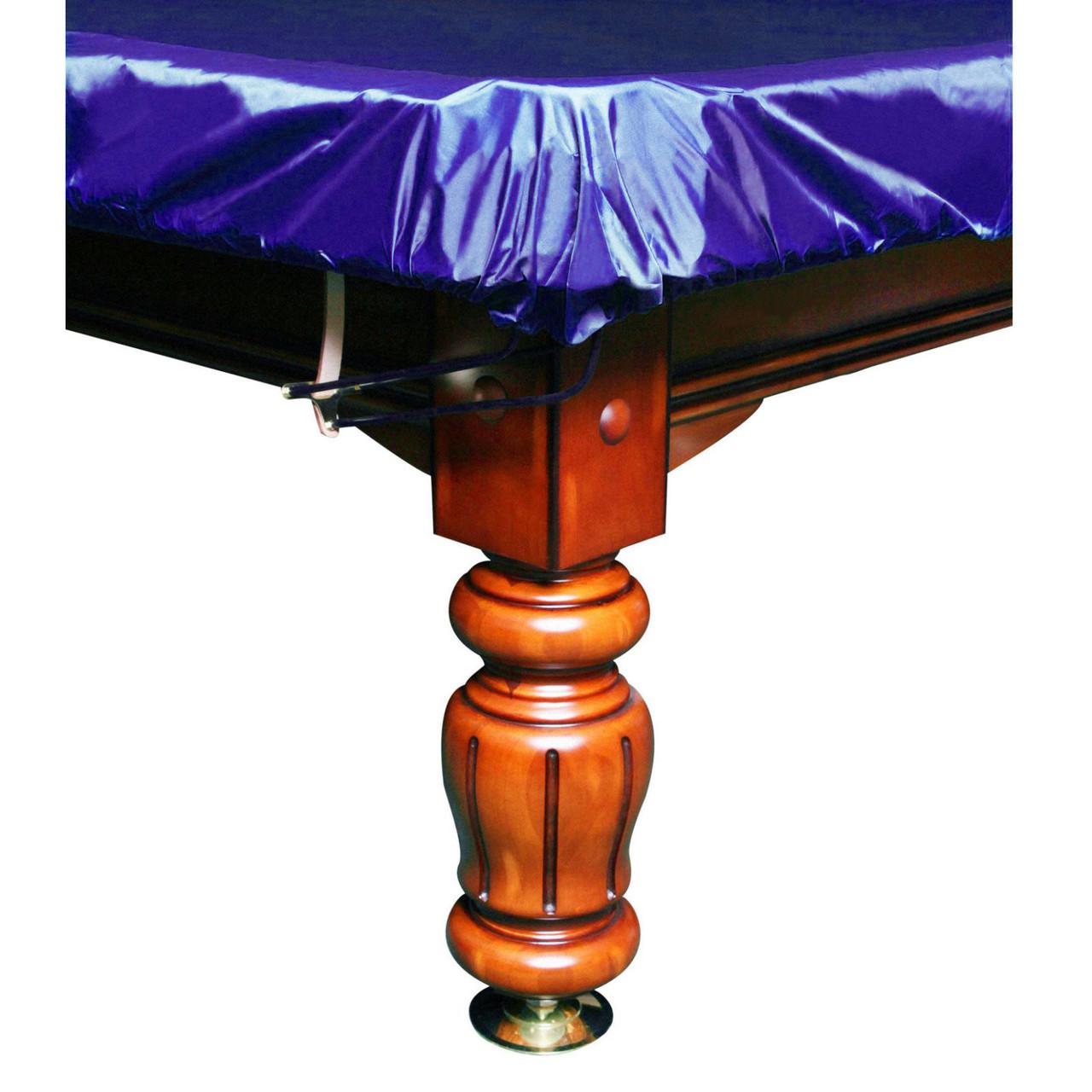 """Чехол для бильярдного стола """"12 футов"""" с резинкой на лузах синий"""