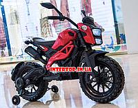 Детский электромотоцикл Harley Davidson на аккумуляторе с мягкими EVA колесами M 4267 красный для детей 3-8лет