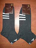 "Мужской носок ""в стиле"" ""Adidas"". р. 29-31 (44-46). Графит, фото 5"