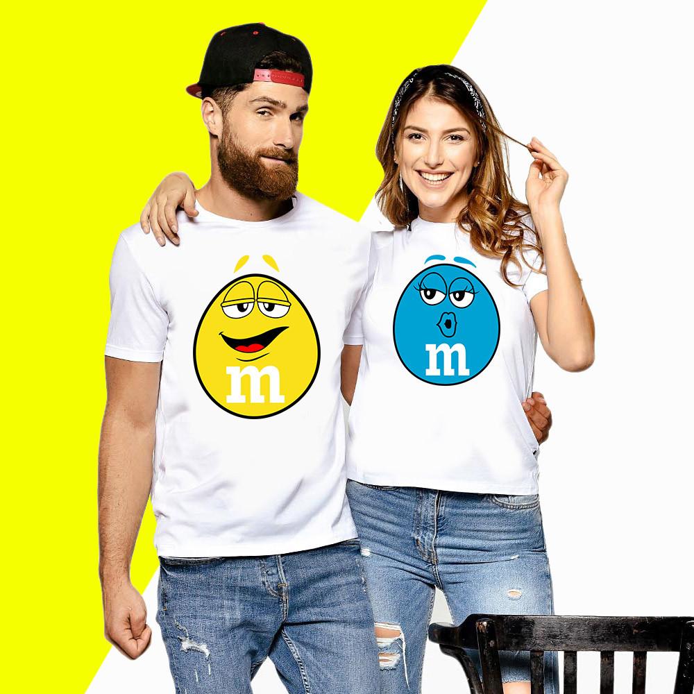 Парные футболки с принтом M&M's Push IT XS, Белый
