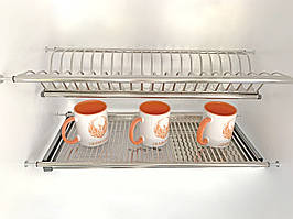 Сушка  для посуды нержавейка 800 мм
