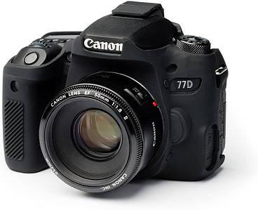 Защитный силиконовый чехол для фотоаппаратов Canon EOS 77D  - черный