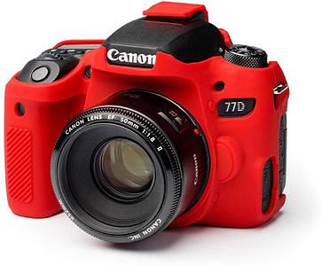 Защитный силиконовый чехол для фотоаппаратов Canon EOS 77D  - красный