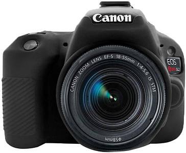 Защитный силиконовый чехол для фотоаппаратов Canon EOS 200D, 200D II  - черный