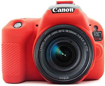 Защитный силиконовый чехол для фотоаппаратов Canon EOS 200D, 200D II  - красный
