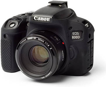 Защитный силиконовый чехол для фотоаппаратов Canon EOS 800D (T7I)  - черный