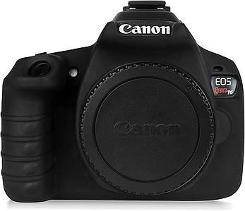 Защитный силиконовый чехол для фотоаппаратов Canon EOS 1300D (T6) - черный