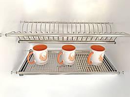 Сушка для посуду нержавійка 900 мм.