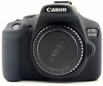 Защитный силиконовый чехол для фотоаппаратов Canon EOS 1500D - черный