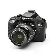 Защитный силиконовый чехол для фотоаппаратов Canon EOS 4000D - черный, фото 3