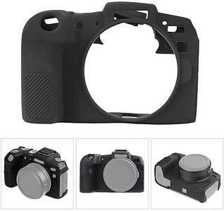 Защитный силиконовый чехол для фотоаппаратов Canon EOS RP - черный