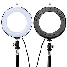 """Кольцевой LED осветитель ZM100 (6"""" - 16см) с пультом, USB, стойкой 55 см и шарниром для предметной съемки, фото 3"""
