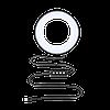"""Кольцевой LED осветитель ZM100 (6"""" - 16см) с пультом, USB, стойкой 80 см и шарниром для предметной съемки, фото 3"""
