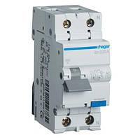 Дифференциальный автоматический выключатель 1+N, 16A, 30mA, C, 4,5 kA, AC Hager