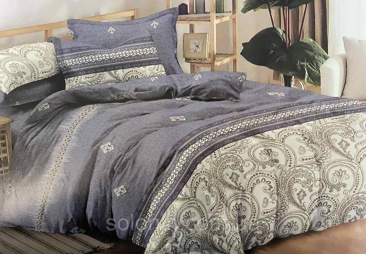 Двуспальное евро постельное бельё из сатина.