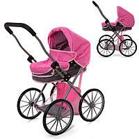 Коляска детская демисезонная Melogo для кукол 69882BN на больших колесах розовая (69882BN)