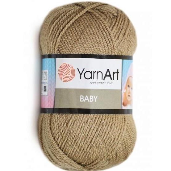 Пряжа Yarn Art Baby, темно-бежевая