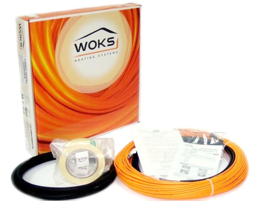 Электрический теплый пол тонкий кабель Woks-10 600 Вт 64м (двухжильный)
