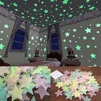 Светящиеся Звезды. Светящиеся звездочки на стену, потолок. Фосфорные наклейки 100 штук