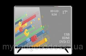 "Современный телевизор Ergo 17"" HD Ready/DVB-T2/USB (1366x768)"