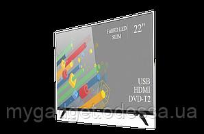 "Современный телевизор Ergo  22"" Full HD/DVB-T2/USB (1080р)"