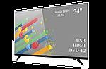 "Современный телевизор Ergo  24"" Full HD/DVB-T2/USB (1920×1080), фото 2"