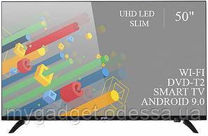 """Современный телевизор Ergo  50"""" Smart-TV//DVB-T2/USB адаптивный UHD,4K/Android 9.0"""