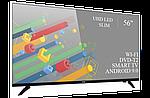"""Современный телевизор Ergo  56"""" Smart-TV//DVB-T2/USB адаптивный UHD,4K/Android 9.0, фото 2"""