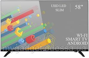 """Современный телевизор Ergo  58"""" Smart-TV/DVB-T2/USB (1920×1080) Android 7.0 4К/UHD"""