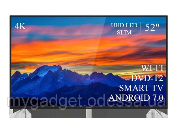 "Современный телевизор Thomson  52"" Smart-TV/DVB-T2/USB Android 7.0 АДАПТИВНЫЙ 4К/UHD"