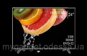 "Современный телевизор Hisense  24"" FullHD/DVB-T2/USB (1920×1080)"