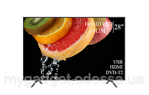 "Современный телевизор Hisense  28"" FullHD/DVB-T2/USB (1920×1080)"