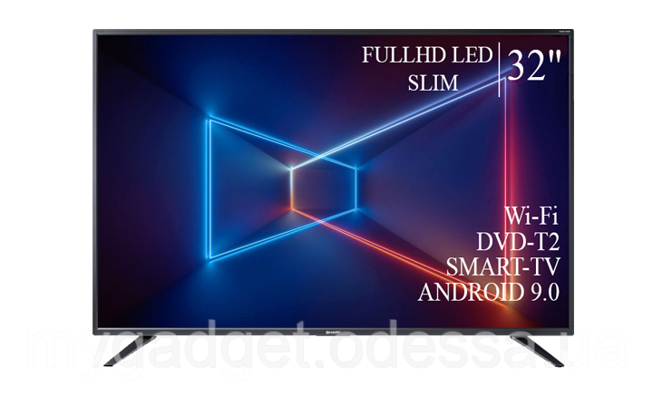 """Современный телевизор Sharp  32"""" Smart-TV/Full HD/DVB-T2/USB  Android 9.0"""