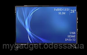 "Современный телевизор Bravis  28"" FullHD/DVB-T2/USB"