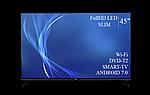 "Современный телевизор Bravis  45"" Smart-TV/Full HD/DVB-T2/USB Android 7.0, фото 4"