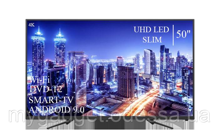 "Современный телевизор JVC  50"" Smart-TV/+DVB-T2+USB АДАПТИВНЫЙ UHD,4K/Android 9.0"