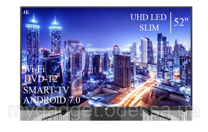 """Современный телевизор JVC  52"""" Smart-TV+DVB-T2+USB Android 7.0 АДАПТИВНЫЙ 4К/UHD"""