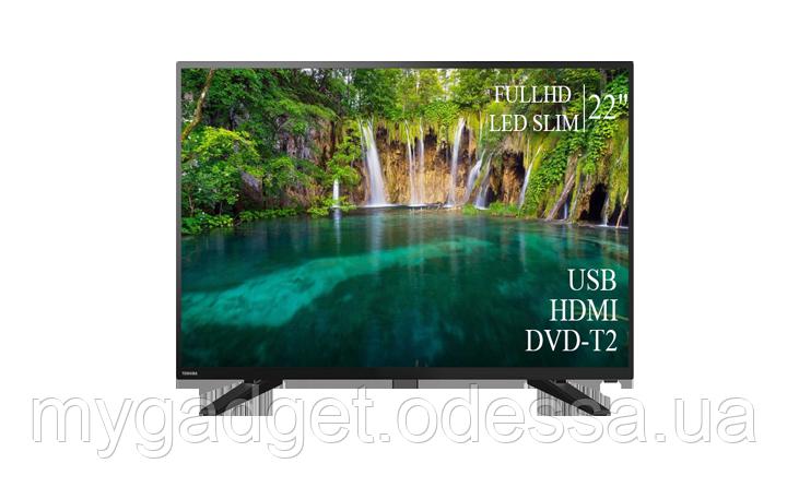 "Современный телевизор Toshiba  22"" FullHD+DVB-T2+USB (1080р)"