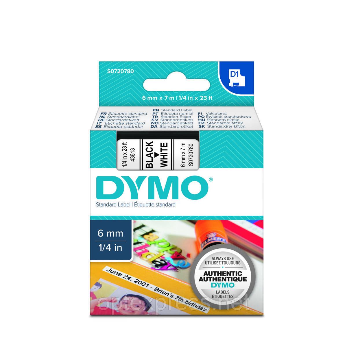 Картридж  S0720780 с пластиковой лентой системы D1 для  термопринтеров DYMO 6мм х 7м