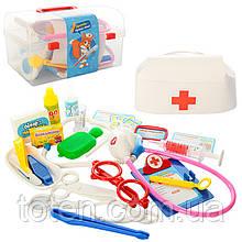Доктор Набор . Молоточек, термометр, стетоскоп, очки 28 предметов M0459 Детский игровой