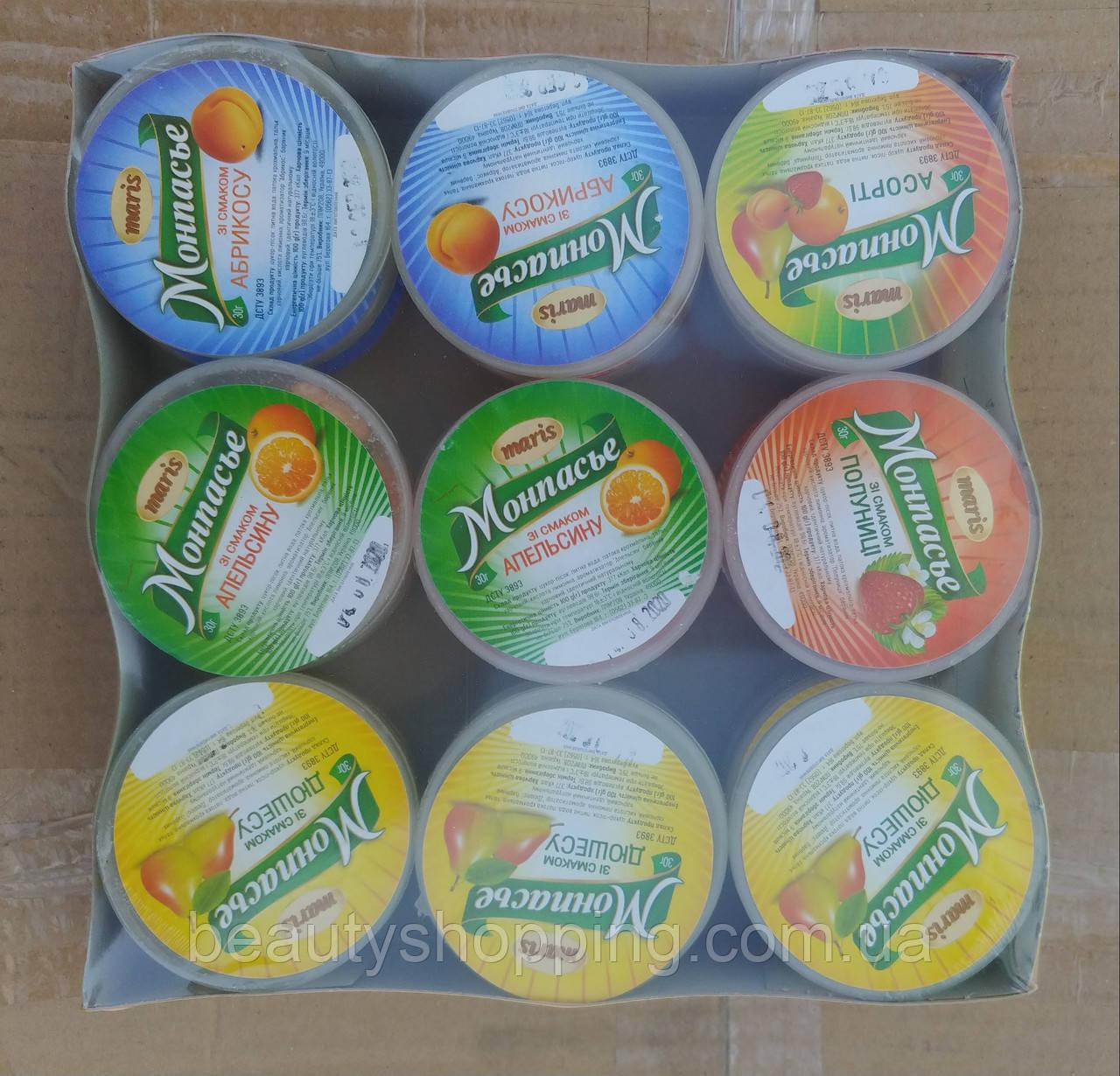 Карамельні цукерки Монпасьє в асортименті 27 шт