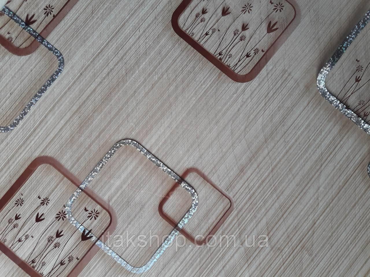 Мягкое стекло Скатерть с лазерным рисунком для мебели Soft Glass 2.2х0.8м толщина 1.5мм Бежевая с цветами