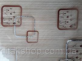 Мягкое стекло Скатерть с лазерным рисунком для мебели Soft Glass 2.2х0.8м толщина 1.5мм Бежевая с цветами, фото 3