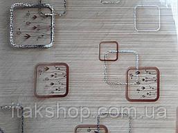 Мягкое стекло Скатерть с лазерным рисунком для мебели Soft Glass 2.2х0.8м толщина 1.5мм Бежевая с цветами, фото 2
