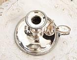 Посеребренный подсвечник с гасником, серебрение по меди, винтаж, Англия, фото 2